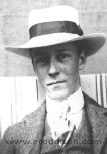 Eddison as a young man